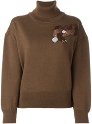 Each X Other Turtleneck Embroidered Jumper Brown