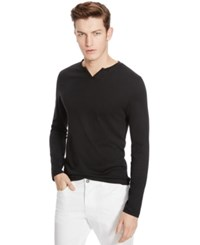 Kenneth Cole Reaction Long Sleeve Solid Henley