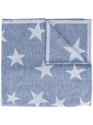 Stella Mccartney Star Print Scarf Blue