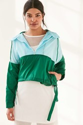 Without Walls Mia Color Block Parachute Half Zip Jacket Green