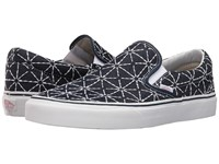 Vans Classic Slip On Quilted Denim Dress Blues Zephyr Skate Shoes Black