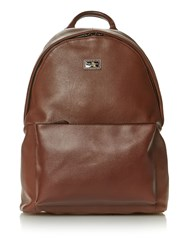 Ted Baker Panthr Leather Backpack Tan