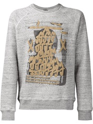Marc Jacobs Graffiti Print Sweatshirt Grey