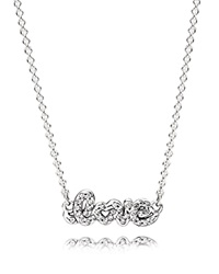Pandora Design Pandora Necklace Sterling Silver And Cubic Zirconia Signature Of Love 17.7