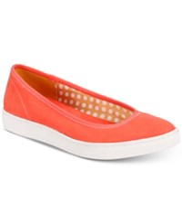 Anne Klein Sport Overthetop Flats Orange Fabric