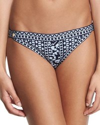 Herve Leger Printed Hipster Side Swim Bottom Pacific Blue