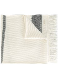 Woolrich Striped Scarf White