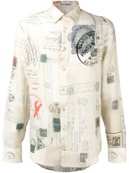 Alexander Mcqueen Letters From India Print Shirt Nude Neutrals