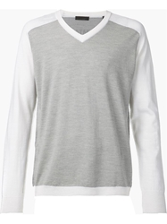 Atm Contrast Sleeve Sweater