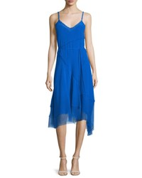 Elie Tahari Shirley Sleeveless Asymmetric Hem Dress Oasis