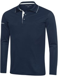 Galvin Green Marc Ventil8 Long Sleeved Polo Blue