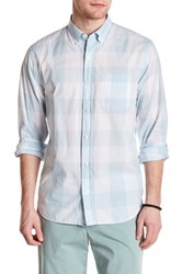 Bonobos Long Sleeve Checkered Standard Fit Woven Shirt Powder Blue Bright White