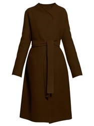 The Row Terin Belted Wool Blend Coat Green