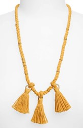 Madewell Rope And Tassel Necklace Nectar Gold
