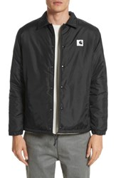 Carhartt Men's Work In Progress Coach Jacket Black Wax