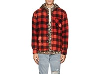 Nsf Distressed Checked Flannel Shirt Red