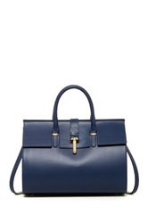 Merci Marie Handbags Chanelle Genuine Leather Bowler Blue