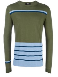 Fendi Striped Jumper Green