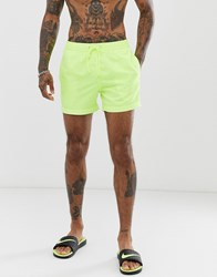 South Beach Pastel Yellow Shorts With Elasticated Waist