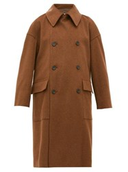 Connolly Double Breasted Wool Coat Tan