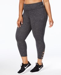 Ideology Plus Size Cropped Cutout Leggings Only At Macy's Classic Black