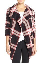 Women's Pj Salvage Pattern Cardigan Black Plaid