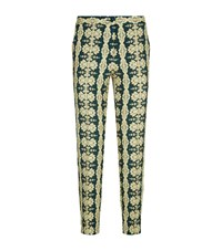 Etro Print Capri Trousers Female Green