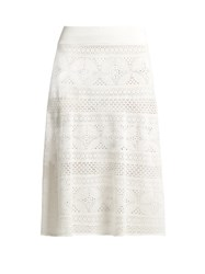 A.L.C. Tunney Floral Lace Skirt White