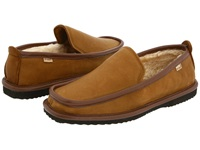 L.B. Evans Imperial Deer Mocha Deerskin Men's Slippers Tan