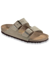 Birkenstock Arizona Two Band Suede Sandals Men's Shoes Taupe Suede