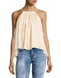 Free People Trapeze Halter Tank Ivory