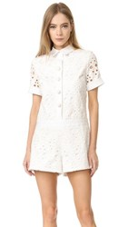 Alexis Rockwell Romper White