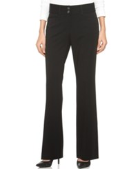 Alfani Two Button Curvy Fit Pants Only At Macy's Black
