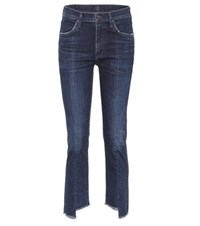 Citizens Of Humanity Amari High Waisted Cropped Jeans Blue