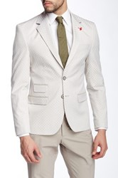 Ron Tomson Diamond Two Button Notch Lapel Fitted Blazer White