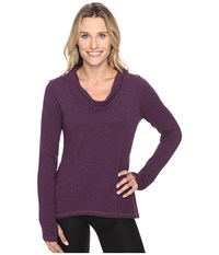 Lucy Surrender Pullover Blackberry Heather Women's Long Sleeve Pullover Purple