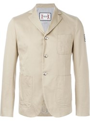 Moncler Gamme Bleu Three Button Blazer Nude And Neutrals