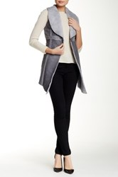 Luma Novelty Faux Fur Vest Gray