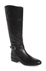 Women's Vince Camuto 'Phillie' Tall Riding Boot Black Leather Extended Calf