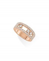 Messika Move Diamond Band Ring In 18K Rose Gold