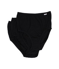 Jockey Plus Size Elance Brief 3 Pack Black Black Black Women's Underwear