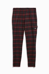 Giamba Women S Tartan Skinny Trousers Boutique1 Red