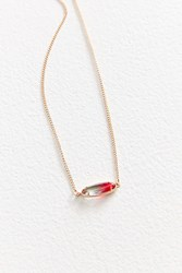 Urban Outfitters Ombre Sky Stone Pendant Necklace Pink