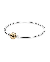 Pandora Design Pandora Bangle Sterling Silver And 14K Gold Moments Collection