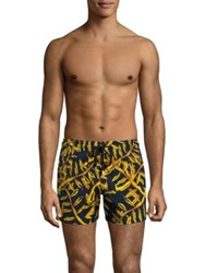 Vilebrequin Superflex Gold Swim Shorts Navy