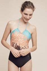 Anthropologie U Bandeau One Piece Coral