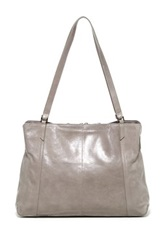 Hobo Jerri Leather Handbag Gray