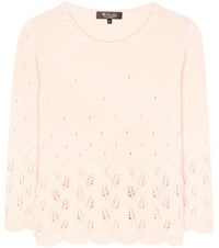 Loro Piana Leaf Cashmere Sweater Pink