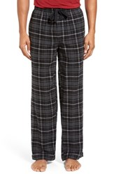 Nordstrom Men's Big And Tall Men's Shop Flannel Lounge Pants Charcoal Black Plaid