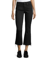 Derek Lam Gia Mid Rise Cropped Flared Jeans Black